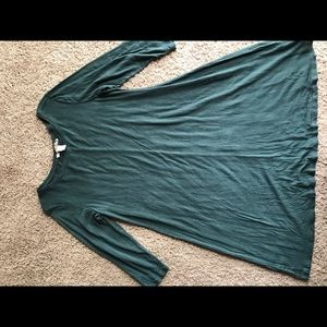 Forever 21 soft tunic top short dress L XL green